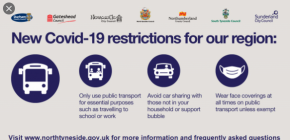 COVID-19 RESTRICTIONS FOR OUR AREA