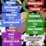 After School Enrichment Clubs – Autumn 2