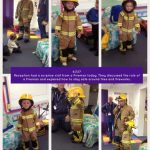 Reception have had another visitor today – a Fireman.