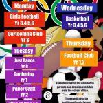 Spring 1 Enrichment Clubs