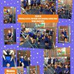 Reception enjoying climbing, moving across and through large apparatus