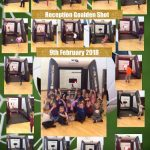 Reception enjoy taking part in the Goalden Shot fundraising event