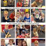 Reception enjoying their farewell ice cream parlour