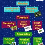 After School Enrichment Clubs For Summer 1 Term