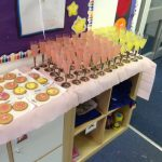 Reception – Mother's Day treat.