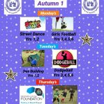 After School Enrichment Clubs – Autumn 1