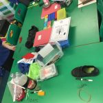 Year 1 exploring and naming different materials in Science.